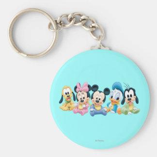 Baby Mickey & Friends Basic Round Button Keychain
