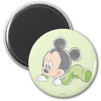 Baby Mickey | Green Pajamas 2 Inch Round Magnet