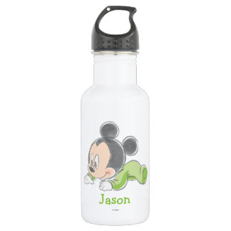 Baby Mickey | Green Pajamas Stainless Steel Water Bottle