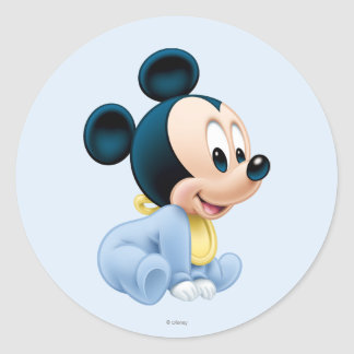 Baby Mickey Mouse 2 Classic Round Sticker