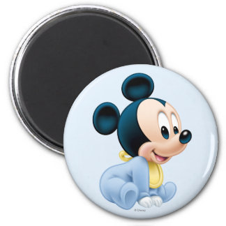 Baby Mickey Mouse 2 2 Inch Round Magnet