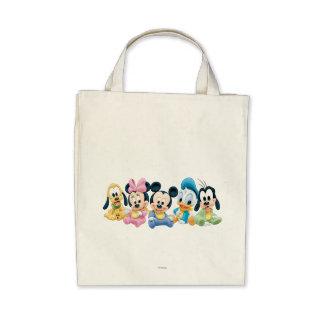 Baby Mickey Mouse and friends Tote Bag