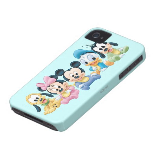 Baby Mickey Mouse and friends iPhone 4 Case-Mate Cases