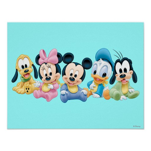 baby mickey mouse and friends posters zazzle. Black Bedroom Furniture Sets. Home Design Ideas