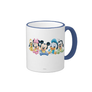 Baby Mickey Mouse and friends Ringer Coffee Mug