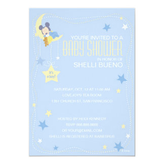 Baby Mickey Mouse Baby Shower 5x7 Paper Invitation Card