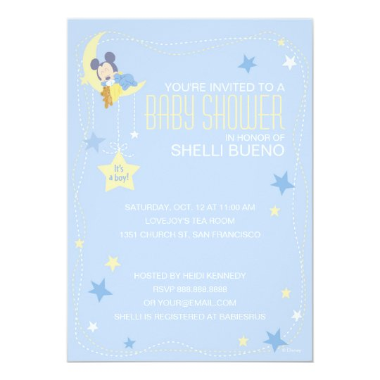 baby mickey mouse baby shower card  zazzle, Baby shower invitations