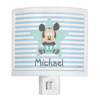 Baby Mickey Mouse   Personalized Night Light