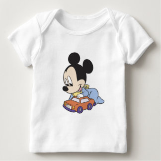 Baby Mickey Mouse playing with toy car Infant T-shirt