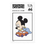 Baby Mickey Mouse playing with toy car Postage Stamp