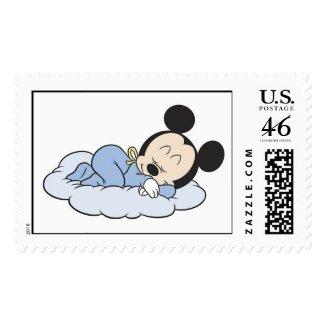 Baby Mickey Sleeping zazzle_stamp