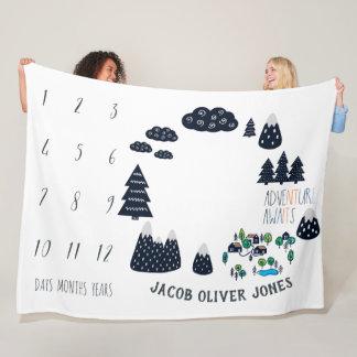 Baby Milestone Blanket | Adventure Awaits