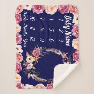 Baby Milestone Blanket Personalized Baby Girl Gift