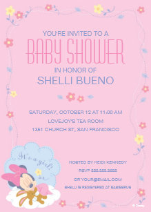 Minnie mouse invitations zazzle baby minnie mouse baby shower invitation filmwisefo