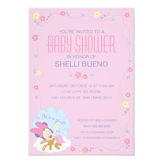 Baby minnie mouse baby shower invitation zazzle baby minnie mouse baby shower invitation filmwisefo