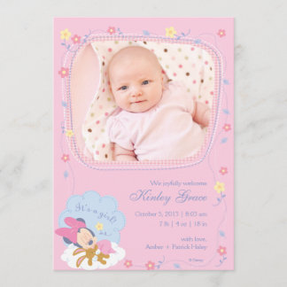 Baby Minnie Mouse Birth Announcement