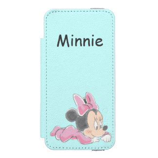 Baby Minnie Mouse | Pink Pajamas iPhone SE/5/5s Wallet Case
