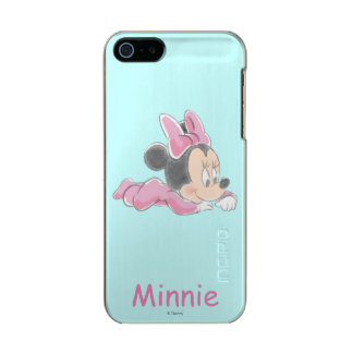 Baby Minnie Mouse | Pink Pajamas Metallic iPhone SE/5/5s Case