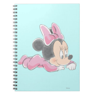 Baby Minnie Mouse | Pink Pajamas Spiral Notebook