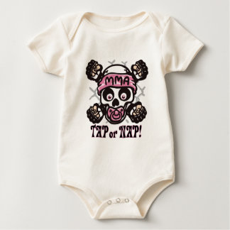 Baby MMA Skull and Binky Baby Bodysuit