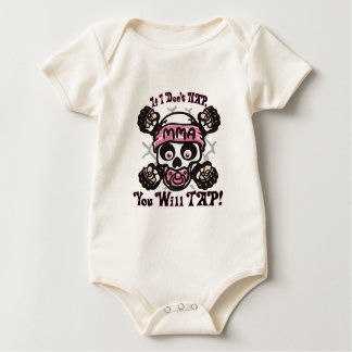 Baby MMA Skull and Binky Baby Bodysuit