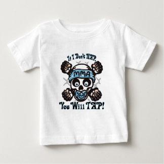 Baby MMA Skull and Binky Baby T-Shirt