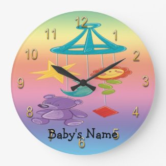 Baby Mobile Round Wall Clock