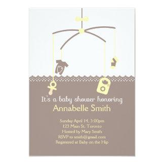 Baby Mobile Shower Invitation
