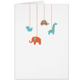 Baby Mobile Thank You Card