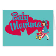 Baby Momma funny mothers day card