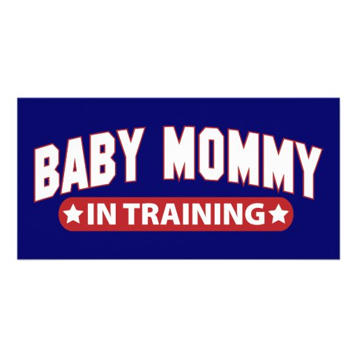 Baby Mommy In Training Photo Card