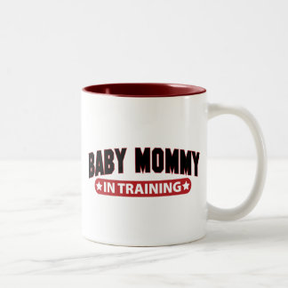 Baby Mommy In Training Two-Tone Coffee Mug