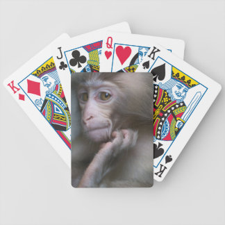 Baby Monkey Bicycle Playing Cards