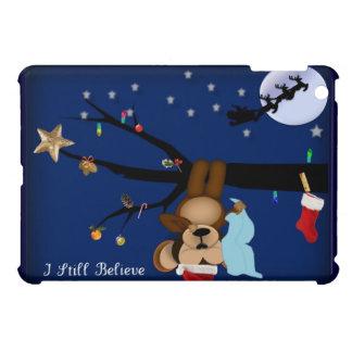 Baby Monkey Dreams of Santa Believe IPAD MINI iPad Mini Cases