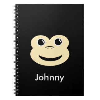 Baby Monkey Face Spiral Notebook
