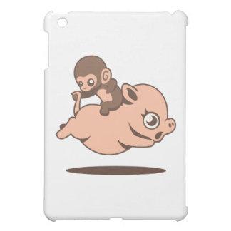 Baby Monkey (Going Backwards on a Pig) iPad Mini Cases