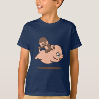 Baby Monkey (Going Backwards on a Pig) T-Shirt