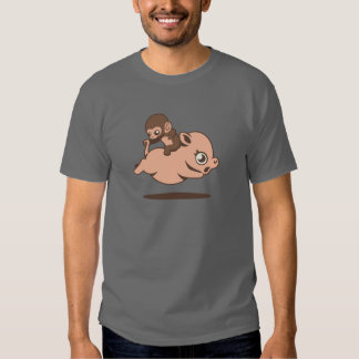 Baby Monkey (Going Backwards on a Pig) T Shirts