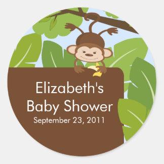 Baby Monkey Jungle Safari Baby Shower Sticker