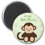Baby Monkey Polka Dots Baby Shower Favor Magnets