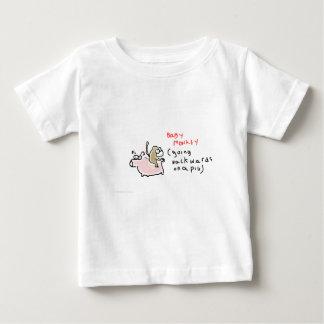 Baby Monkey (riding backwards on a pig) Baby T-Shirt