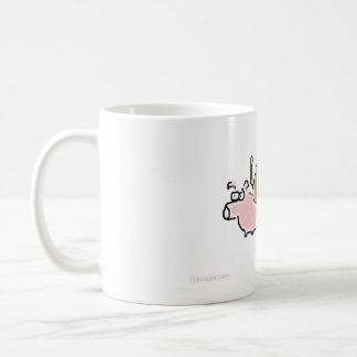 Baby Monkey riding backwards on a pig Coffee Mug