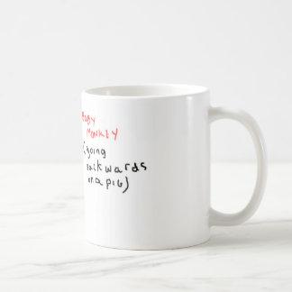 Baby Monkey (riding backwards on a pig) Coffee Mug