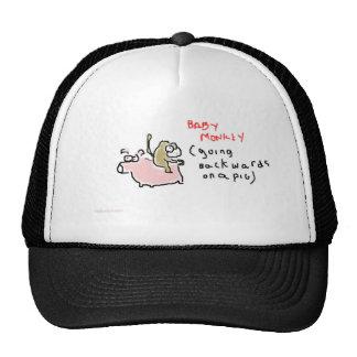 Baby Monkey (riding backwards on a pig) Mesh Hat