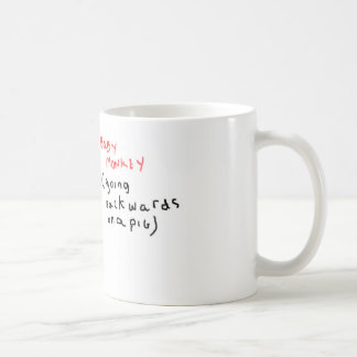 Baby Monkey (riding backwards on a pig) Coffee Mugs