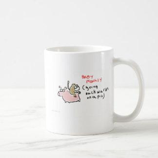 Baby Monkey (riding backwards on a pig) Mug