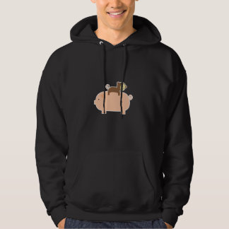 Baby Monkey Riding on a Pig Hoodie