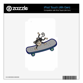baby Monkey riding skateboards iPod Touch 4G Skins