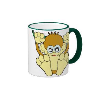 Baby Monkey Ringer Coffee Mug