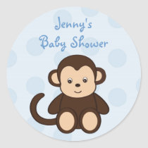 Baby Monkey Shower Stickers Envelope Seals